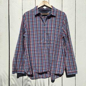 Tommy Hilfiger Plaid Half Button-Up Shirt